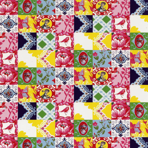Vintage Chic fototapeta Vintage Patterns Patchwork